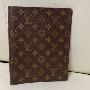 LOUIS VUITTON MONO DESK AGENDA GM COVER EUC CA0061